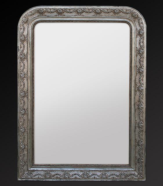 Antike spiegel rahmen blattsilber spiegel louis philippe for Spiegel spiegel