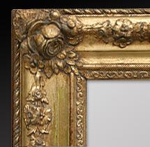 Antike spiegel rahmen romantischer kupfer patina - Spiegel mit spiegelrahmen ...